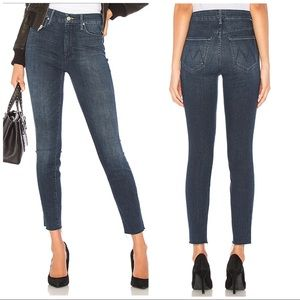 MOTHER The High Waisted Looker Ankle Fray Jeans 30
